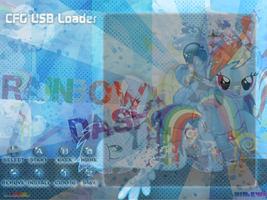 Configurable USB loader: Rainbow Dash Theme by IchibiNoKitsune