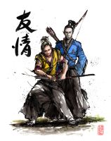Kirk and Spock samurai style by MyCKs