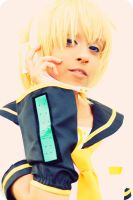 Len Kagamine : Butterfly on The Right Shoulder by Awesome-Vivi