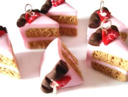 Pink Cake Charms by geurge