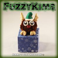 Polymer Clay Reindeer by KIMMIESCLAYKREATIONS