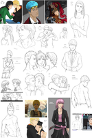 RWBY sketchdump June 2014 by LutherOMight