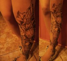 Tattoo Leggings by TheTeacupKitten