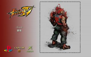 SFIV - Gouki - Wallpaper by iFab