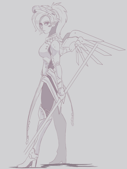 Mercy Sketchage by NCMares