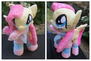 Fluttershy Plushie  with socks by buttsnstuff