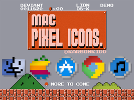 8-Bit Mountain Lion Pixel Icons 1024x1024 *DEMO* by KarbonKidd