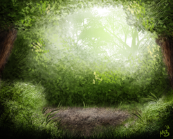 Speed Painting: The Forest 2.0 by cryptmonkey