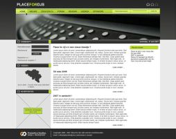 Place for dj's  _weblayout by 8S9