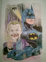 Batman watercolors by StevenWilcox