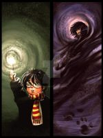 Set of Harry Potter bookmarks by fuzzypinkmonster