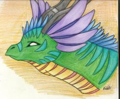 feather dragon by iwuvrubberduckies