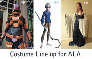 Costume Line Up for ALA 2013 by RoxyRoo