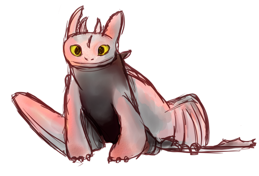 Toothless sketch by acorn23