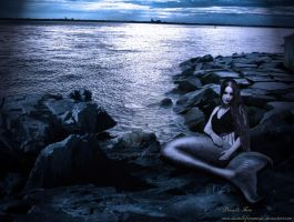 Mermaid and the Moonlight by DanielleFioreModel