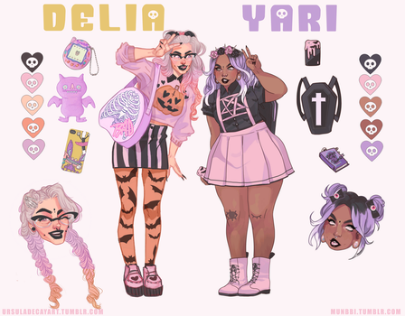 [CLOSED] Adoptable Collab Auction : Delia and Yari by UrsulaDecay