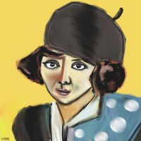 Woman with hat v887 by lv888