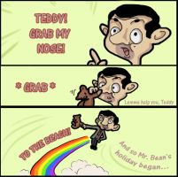 Grab My Meme - Mr. Bean by Yaraffinity