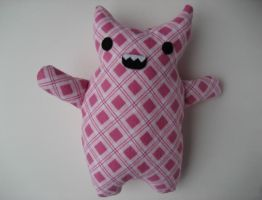 Pink Horned Monster Plush by Neoitvaluocsol