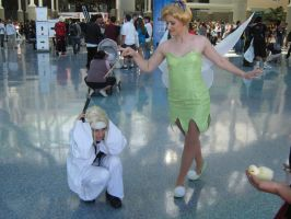 Tinkerbell plays with Shinra by ZexionConvertedSaix