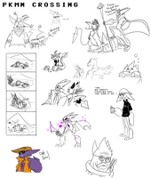 Pkmn Crossing - Sketches by Zito-is-Neato