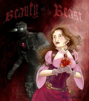 Steampunk Beauty and the Beast by karacature