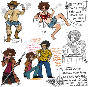 Some Gambit and Wolverine Weirdness by Squidbiscuit