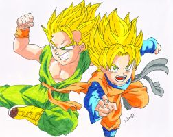 Trunks and Goten by MikeES