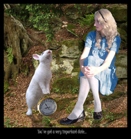 Alice and the White Rabbit by OtterAndTerrier