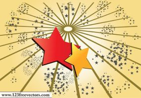 Star Background Vector by 123freevectors