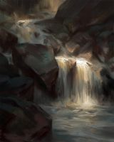Waterfall Study by Wildweasel339