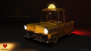 Vickylane Taxi Wallpaper by pixelbudah