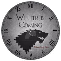 Game of Thrones Stark Clock by SilhouettesbyMarie