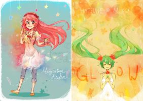vocaloid luka / miku by Flowers-and-Deers