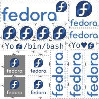 Fedora Stickers Pack by williamjmorenor