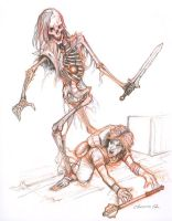 Sketch - Skeleton Attack by orgo