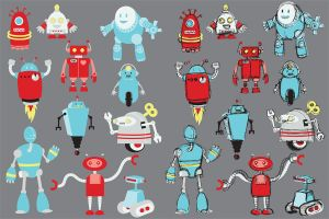 Robot Icons by nerdeeart