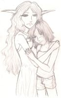 Loving Embrace Sketch by samuraXIV