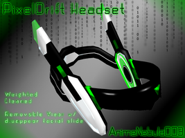 PixelDrift Headset - AN003 by AnimeNebula003