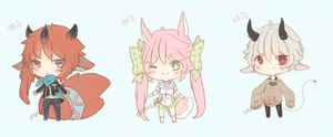 Adoptables 12 - SET PRICE $8 or 800 points [OPEN] by maicafee