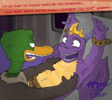 Spyro Meets Dillon Drake by dizzyfeathers