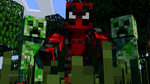 Me (THE_HIGH_SAMURAI) with some Creepers.... by Michael-AngeloXI