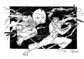 Afro Samurai - Drink'n'Draw Paris (sept26th2012) by SpiderGuile
