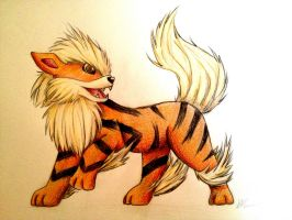 Special Request: Arcanine by Kaspiian