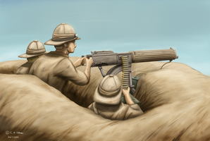 Machine Gunners by XenonRay