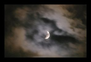 Moon And Clouds by Wilhelmine