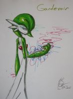 Gardevoir Pen Practice by RavarokJudge