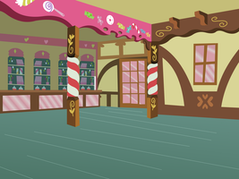 MLP Cake Shop Background by AlliBear17