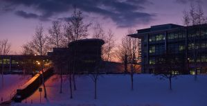 Office by Winter Sunset by noelholland