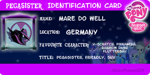 Pegasister Identification Card by CKittyKat98
